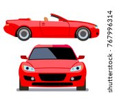 vector flat style cars in... | Shutterstock .eps vector #767996314