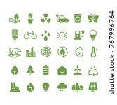green ecology vector icons.... | Shutterstock .eps vector #767996764