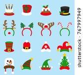 Flat Icon Set Christmas...