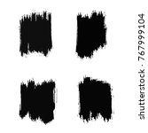 vector set of grunge brush... | Shutterstock .eps vector #767999104