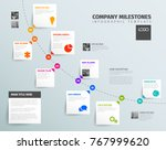 vector infographic time report... | Shutterstock .eps vector #767999620