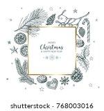 vector vintage hand drawn...   Shutterstock .eps vector #768003016