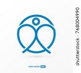 logo design abstract people... | Shutterstock .eps vector #768004990