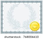 a qualification or award...   Shutterstock .eps vector #768006610