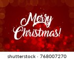 merry christmas wallpaper | Shutterstock . vector #768007270