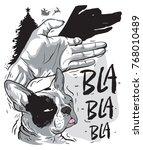 dog french bulldog symbol art... | Shutterstock .eps vector #768010489