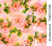 a seamless pattern with a... | Shutterstock . vector #768011248