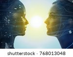 mental world of human concept. | Shutterstock . vector #768013048