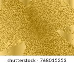 gold sequins texture. abstract... | Shutterstock .eps vector #768015253