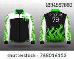 warm coat sport design front...   Shutterstock .eps vector #768016153