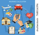 concepts insurance services... | Shutterstock .eps vector #768016396