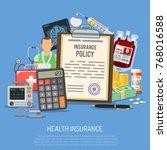 health insurance services... | Shutterstock .eps vector #768016588