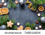 christmas or new year frame... | Shutterstock . vector #768016834