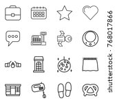 thin line icon set   portfolio  ...