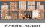 industrial warehouse interior... | Shutterstock .eps vector #768018556