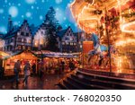 amazing christmas market spirit ... | Shutterstock . vector #768020350