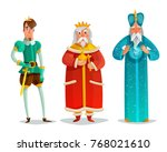 royal characters cartoon set... | Shutterstock .eps vector #768021610