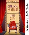 cinema festival vertical poster ... | Shutterstock .eps vector #768021616
