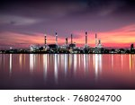 petrochemical plant area in... | Shutterstock . vector #768024700