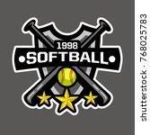 Softball Sports Logo  Softball...
