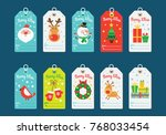 christmas tags collection.... | Shutterstock .eps vector #768033454