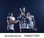 happy american football team... | Shutterstock . vector #768037309
