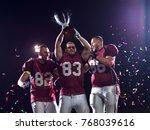happy american football team... | Shutterstock . vector #768039616
