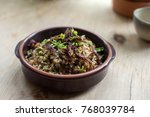 lebanese mujadara   rice and... | Shutterstock . vector #768039784