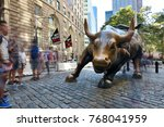 new york city  usa   aug. 23  ... | Shutterstock . vector #768041959