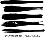 grunge paint stripe . vector...   Shutterstock .eps vector #768042169