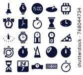 set of 25 clock filled icons... | Shutterstock .eps vector #768044734