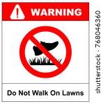 do not step on grass sign  do... | Shutterstock .eps vector #768046360