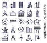 set of 25 architecture outline... | Shutterstock .eps vector #768046573