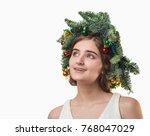 portrait of beautiful young...   Shutterstock . vector #768047029