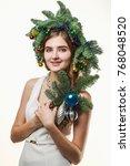 portrait of beautiful young...   Shutterstock . vector #768048520
