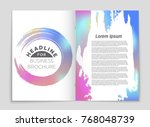 abstract vector layout... | Shutterstock .eps vector #768048739