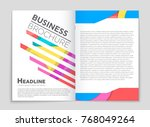 abstract vector layout... | Shutterstock .eps vector #768049264
