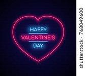 neon signboard in shape heart...   Shutterstock .eps vector #768049600