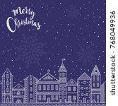 vector merry christmas card... | Shutterstock .eps vector #768049936