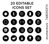 club icons. set of 20 editable... | Shutterstock .eps vector #768050374