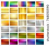 multicolored metallic gradient... | Shutterstock .eps vector #768050590