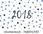 new year greeting card with... | Shutterstock .eps vector #768051550