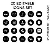 website icons. set of 20... | Shutterstock .eps vector #768052204