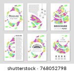 abstract vector layout... | Shutterstock .eps vector #768052798