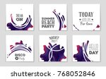 abstract vector layout... | Shutterstock .eps vector #768052846