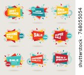 set of colorful abstract chat... | Shutterstock .eps vector #768055054
