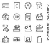 thin line icon set   card ... | Shutterstock .eps vector #768055840