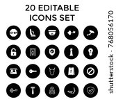 safety icons. set of 20... | Shutterstock .eps vector #768056170