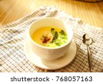 shot in kitchen setting. get... | Shutterstock . vector #768057163