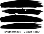 grunge paint stripe . vector... | Shutterstock .eps vector #768057580
